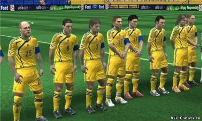 второй скриншот из FIFA 11 с составами 2018