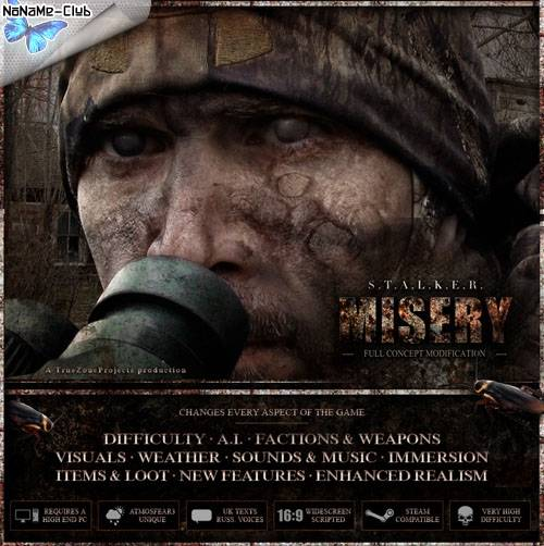 S.T.A.L.K.E.R.: Call Of Pripyat - MISERY 2.1 Beta