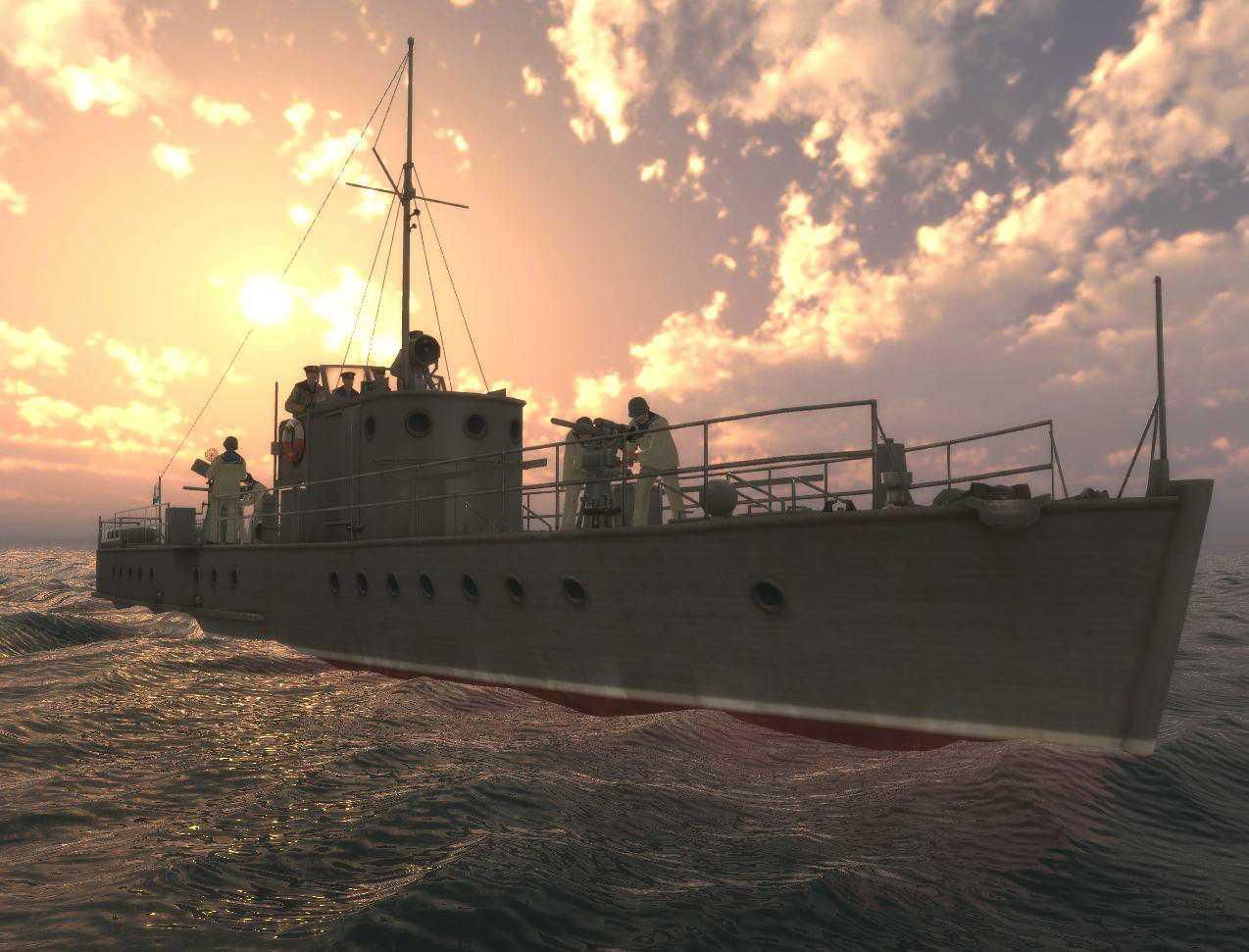 Корабль морской охотник картинки