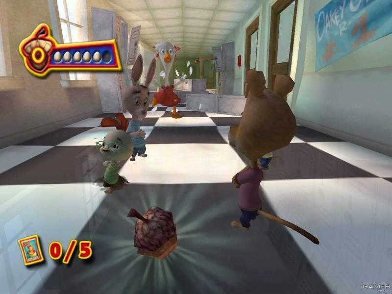 Цыпленок цыпа / chicken little the game (2005) pc arcade игры.