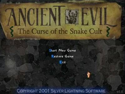 первый скриншот из Ancient Evil: The Curse of the Snake Cult